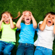 Kids on grass — Stock Photo #7729641