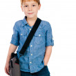 Stock Photo: Little boy with bag