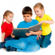 Small kids with a book — Stock Photo #7757503