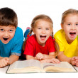 Small kids with a book — Stock Photo #7757539