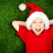 Boy in santa hat — Stock Photo #7757804