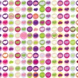 Hearts seamless pattern vector — Stock Vector