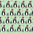 Stock Vector: Penguin background vector