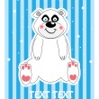Vector background of a cute polar bear — Stock Vector #6818728