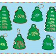 Collection of christmas tags vector — Stock Vector