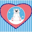 Vector background of a cute polar bear vector illustration — ストックベクタ