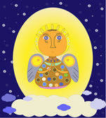 Cute angel vector illustrator — Stock Vector