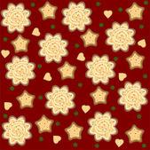 Christmas ginger seamless pattern vector — Stock Vector
