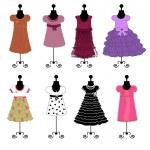 Dresses vector illustration — Stock Vector #7401949