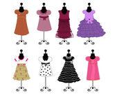 Dresses vector illustration — Stock Vector