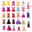 Stock Vector: Dress collection vector