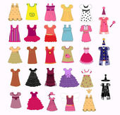 Dress collection vector — Stock Vector