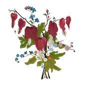 Elegance blommor bukett — Stockvektor