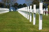 American cemetery crosses — Stock Photo