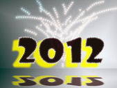New Year with glitter, 2012 — Stock Photo