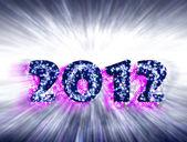 New Year, 2012, bursts — Stock Photo