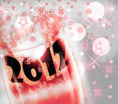 Celebrated with the glasses New Year, 2012, — Stock Photo