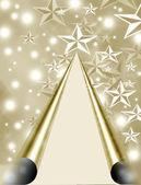 Christmas tree on star — Stock Photo