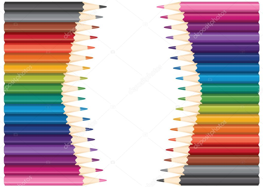 Vector set of colored pencils — Stok Vektör #6839778