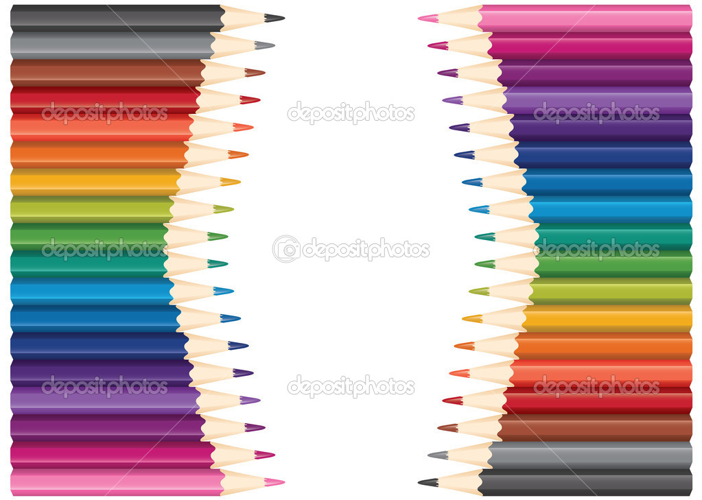 Vector set of colored pencils — Imagen vectorial #6839778