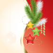 Stock Vector: Abstract xmas background