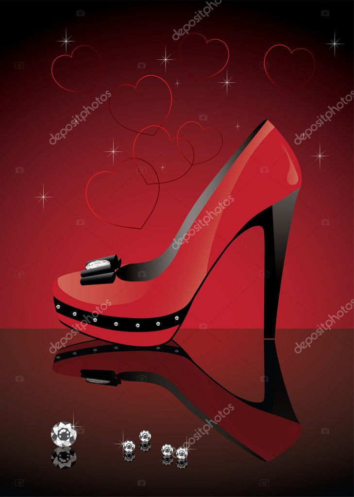 Vector red shoe — Stock Vector #7462886