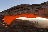 Sunrise at Mesa Arch — Stock Photo