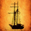Retro-stylized sailer ship image. — Stock Photo