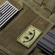 Tactical vest with american flag — Stock Photo