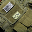 American flag on tactical vest — Stock Photo
