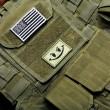 American flag on tactical vest - Stock Photo