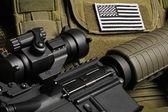Military still life — Stock Photo