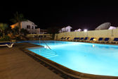 Night swimming pool. — Stock Photo
