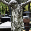 Stock Photo: Old broken statue of Jesus Christ