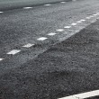 Road marking on highway — Stock Photo