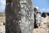 Ancient stones. Ruins of walls of ancient temple. — Stock Photo