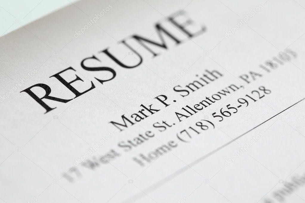 resume title page   u2014 stock photo  u00a9 ultraone  7422594