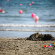 Toys on the beach — Stock Photo #7439522