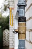 Outdoors gas valves — Stock Photo