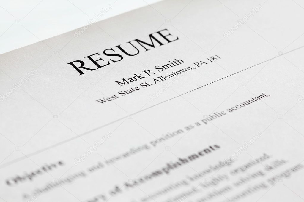 account manager resume title page   u2014 stock photo  u00a9 ultraone  7435855