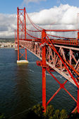 The 25 De Abril Bridge in Lisbon — Stock Photo
