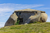Stone house in the top of a moutain — Stock Photo