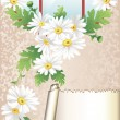 Vintage card with flowers — Stock Vector #6822401