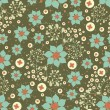 Stock vektor: Seamless floral background