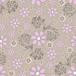 Vettoriale Stock : Seamless floral background