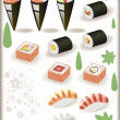 Japanes Sushi — Stock Vector #6823318