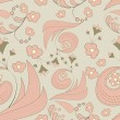 naadloze abstract floral achtergrond — Stockvector
