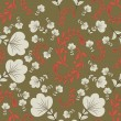 图库矢量图片: Seamless abstract floral background