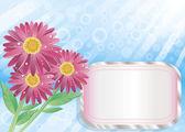 κόκκινα λουλούδια σε φόντο των νεφώνčtyři osvěžující a barevné zmrzliny — Διανυσματικό Αρχείο