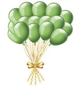 Green balloons — Stock Vector